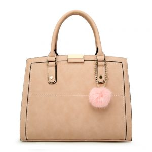Leather Tote With Charm