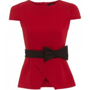 Red Top With Black Bow