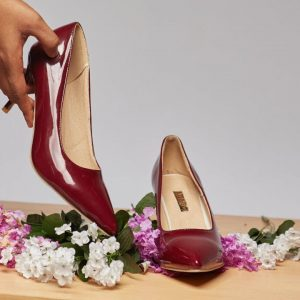 OMALICHA PUMPS- BURGUNDY